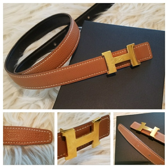 45486af893316 Hermes Accessories - Authentic HERMES Thin Reversible H Belt